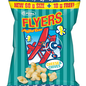 Flyers cheese & chives puffed corn