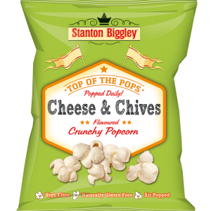 Stanton biggley cheese & chives popcorn