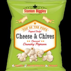 Stanton biggley cheese & chives popcorn